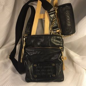 Juicy Couture statement leather bag chains studs